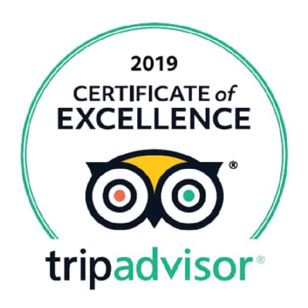 2019 Certificate of Excellence, TripAdvisor. Sandlapper awards