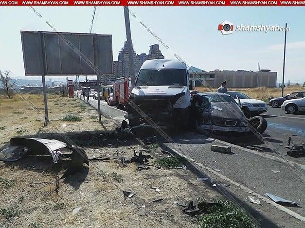 Խոշոր ավտովթար Երևանում. բախվել են BMW-ն Mercedes-ը, Infiniti-ն, Opel-ը. կա 7 վիրավոր