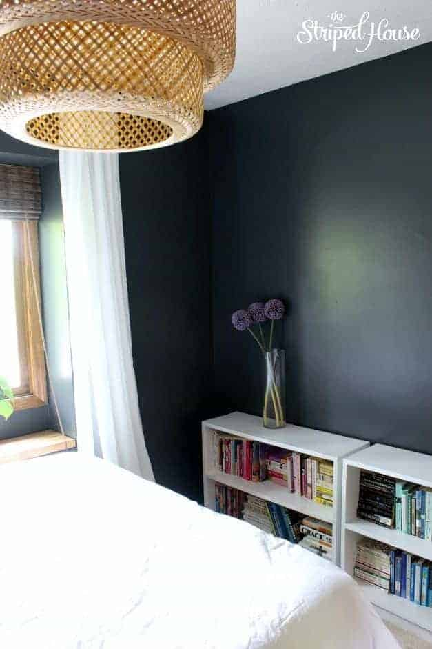 the striped house guest bedroom makeover