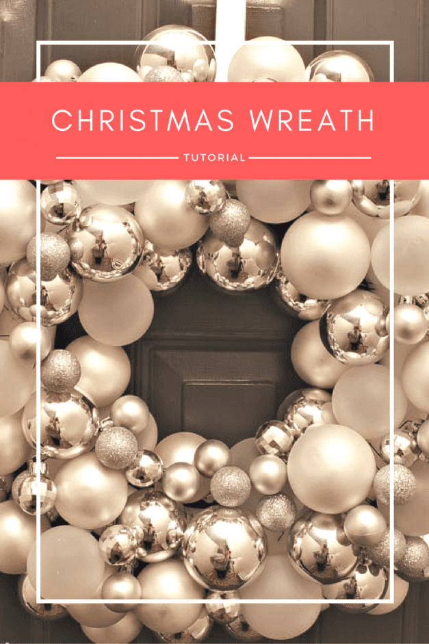 A full-proof tutorial on how to DIY a Christmas ornament wreath, and what super inexpensive tool I use to create it and keep it in place.