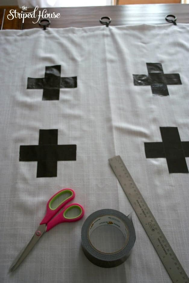 Duck Tape Cross Curtains 5
