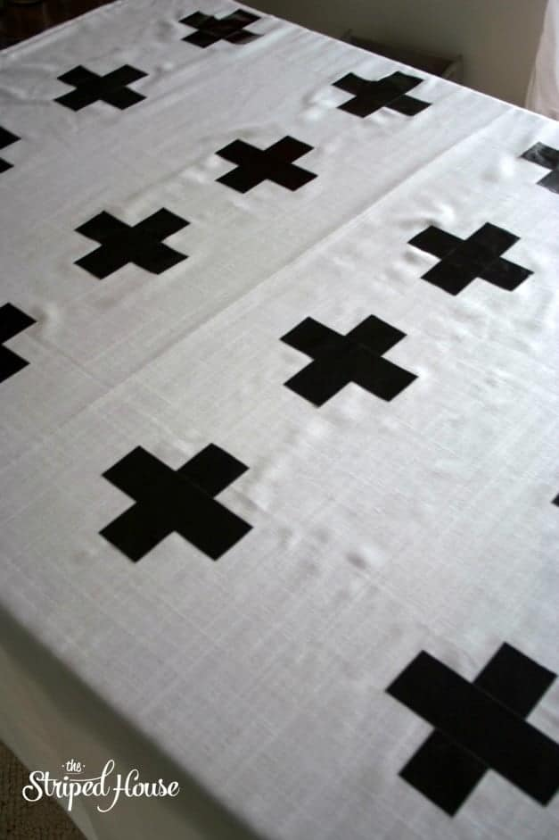 Duck Tape Cross Curtains 6