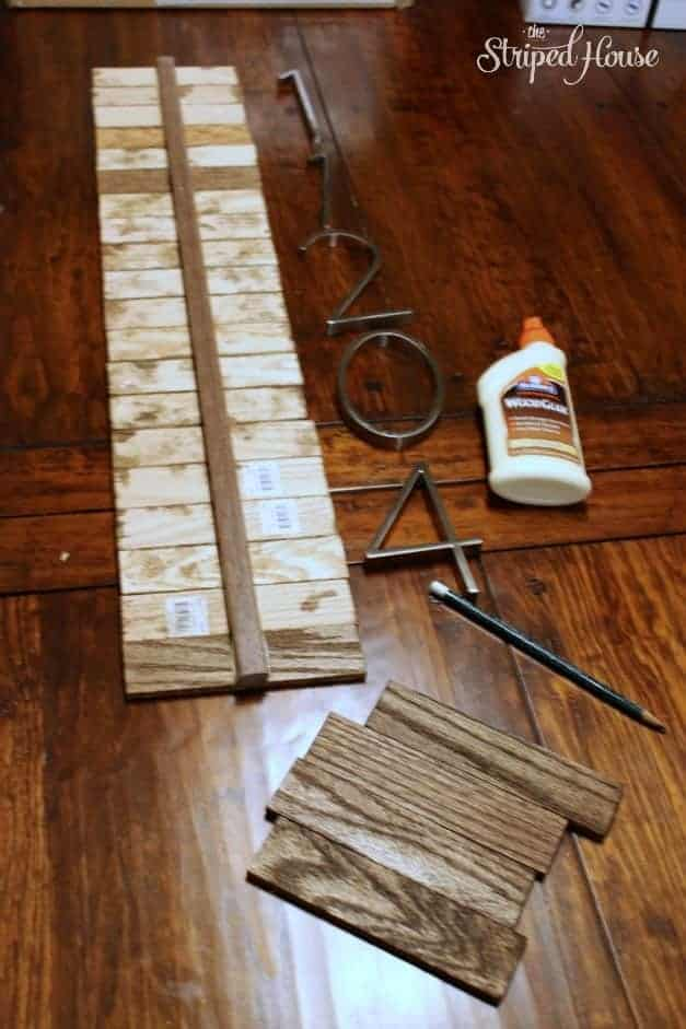 The Striped House - DIY Contemporary House Numbers supplies