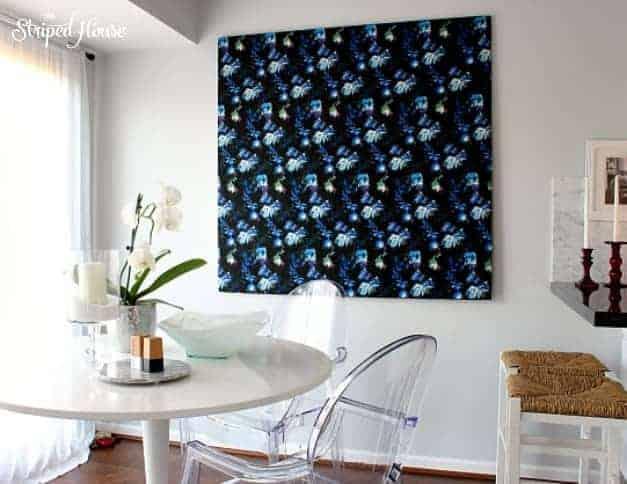 diy fabric art bold print the striped house
