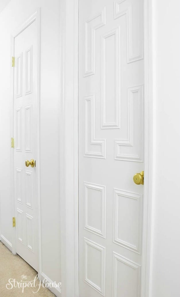 Interior Door Makeover Using Moulding The Striped House