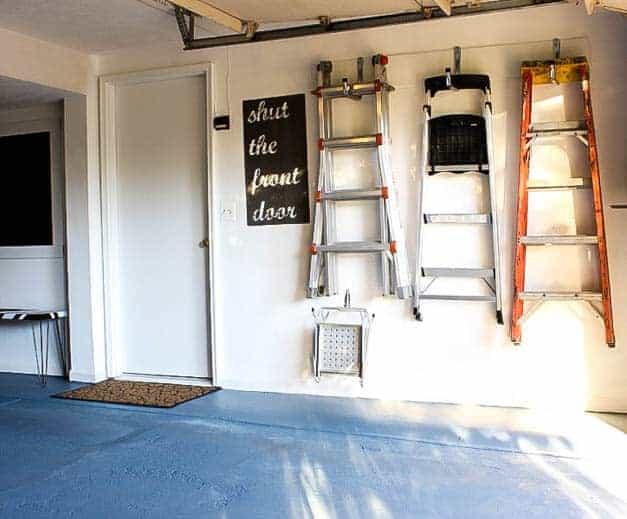 garage-makeover-ladder-storage-one-room-challenge-the-striped-house