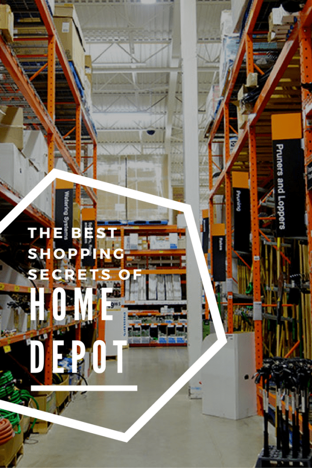 Best kept shopping secrets of Home Depot. Ways to save money, most frequented areas in the store, and those unique items you can use for DIY projects.