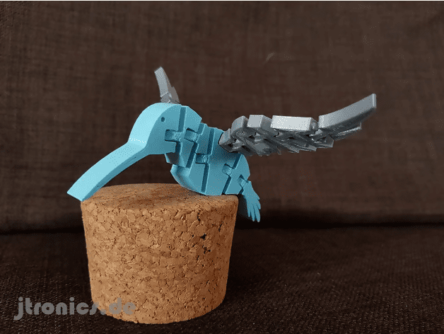3d printed flexi hummingbird