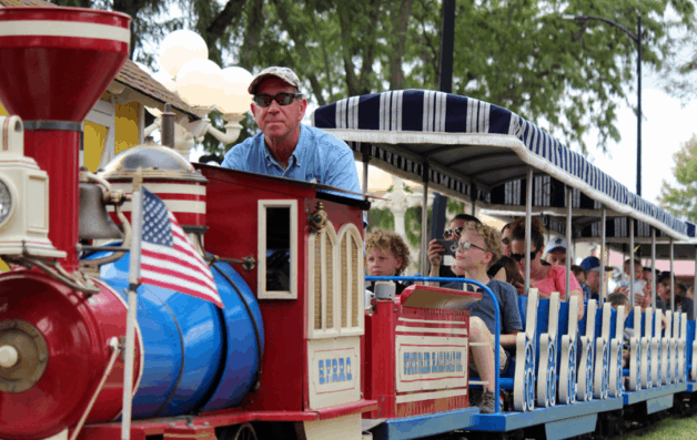 Train ride at the Kansas State Fair