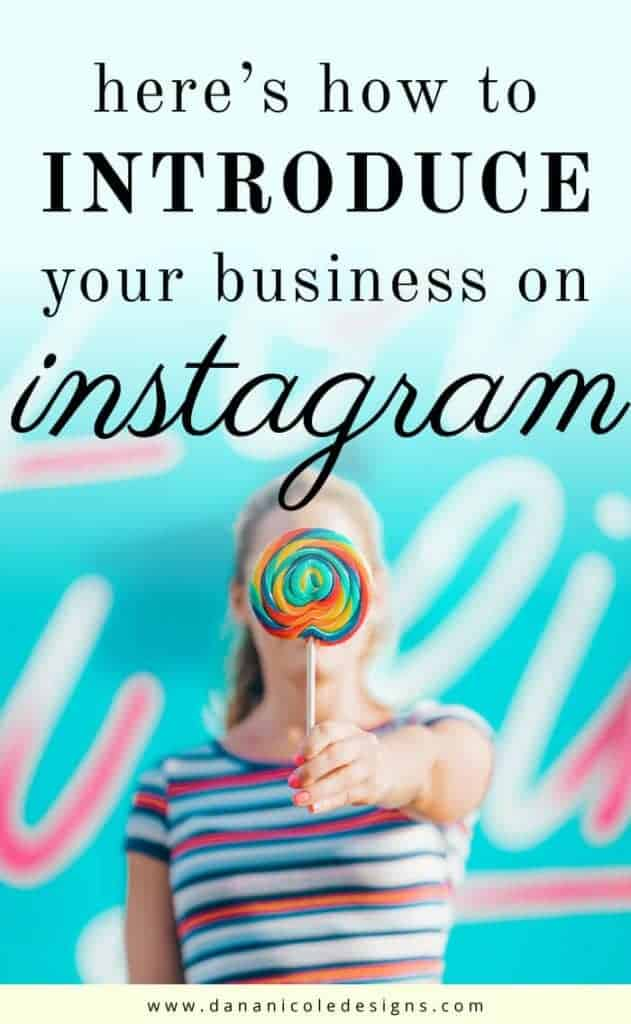 image with text overlay: how to introduce your business on instagram