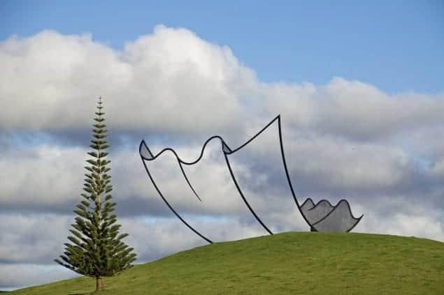 Neil Dawson sculpture park, Horizons, at Gibbs Farm Sculpture Park, New Zealand