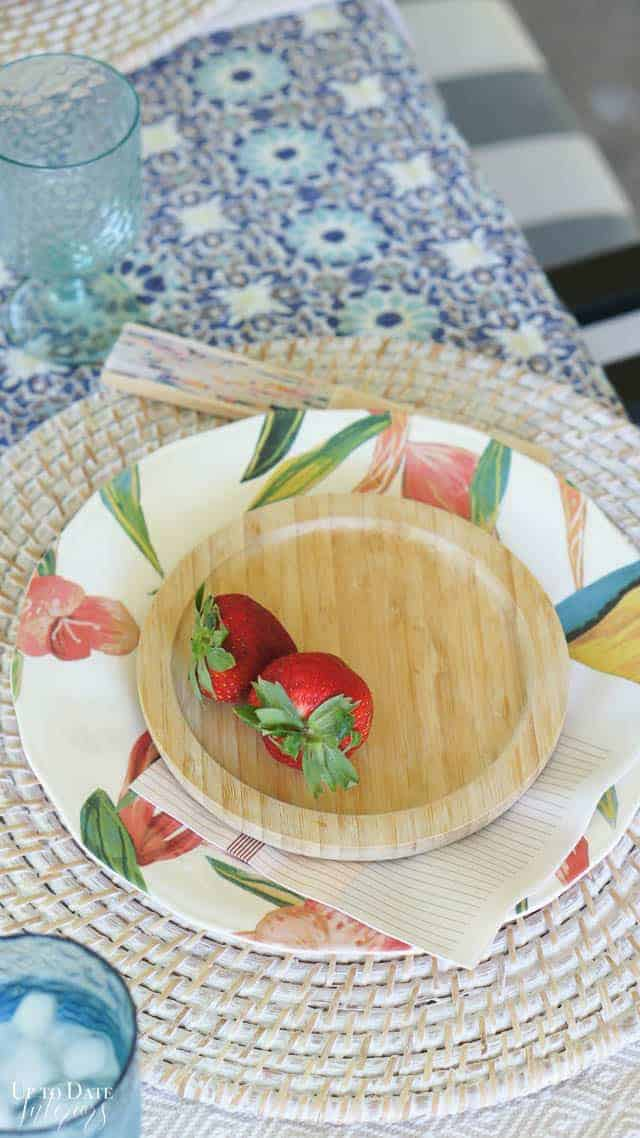 Bright Colorful Patio Table Setting 3