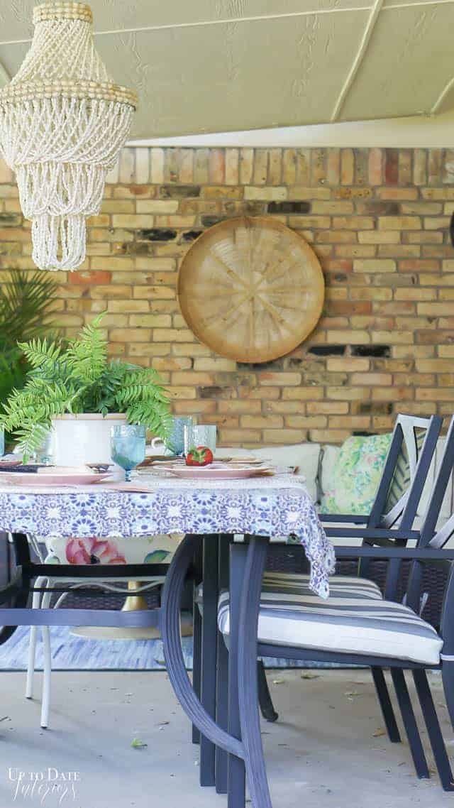 Bright Colorful Patio Table Setting 9
