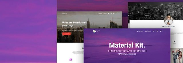 Free Material Kit UI Bootstrap Themes & Templates