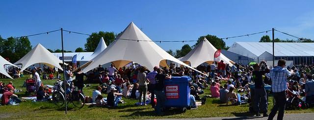 Starshade tenten op festival