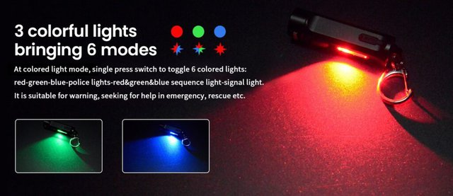 Images shows the colourful LED mode.