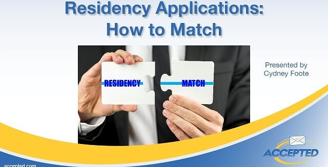 Residency Applications: How to Match