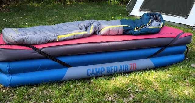 HANDIGE KAMPEERSPULLEN SLAPEN OP DE CAMPING  Opblaasbaar veldbed, Decathlon Camp Bed Air 70, uitgebreid getest