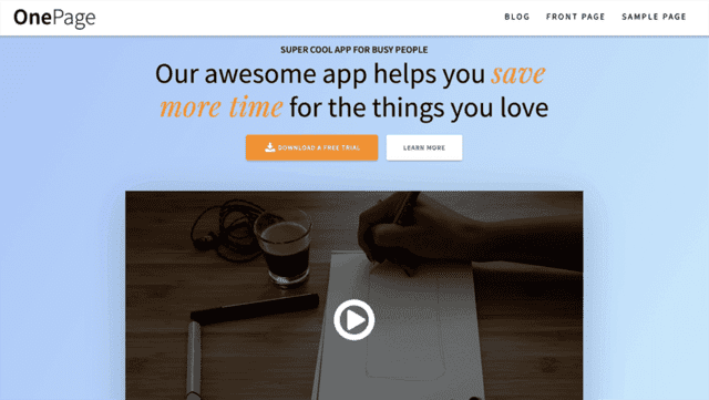 23 Best Free One Page WordPress Themes (Most Popular 2021)