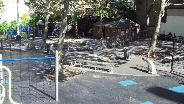 Mccaffrey is a nyc playground in a pocket park near times square