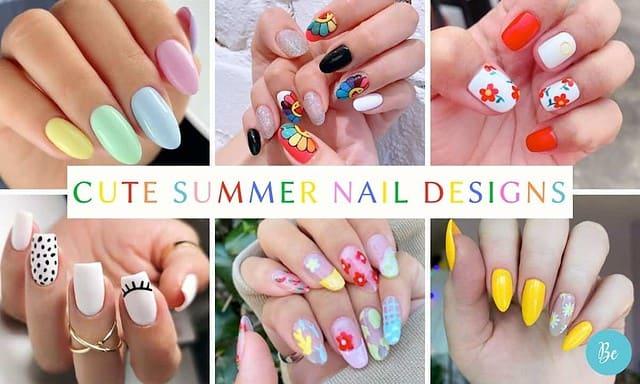 Summer Nail Designs, coffin nails, rainbow nails, almond nails.