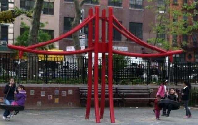 Hester street is nyc playground in chinatown