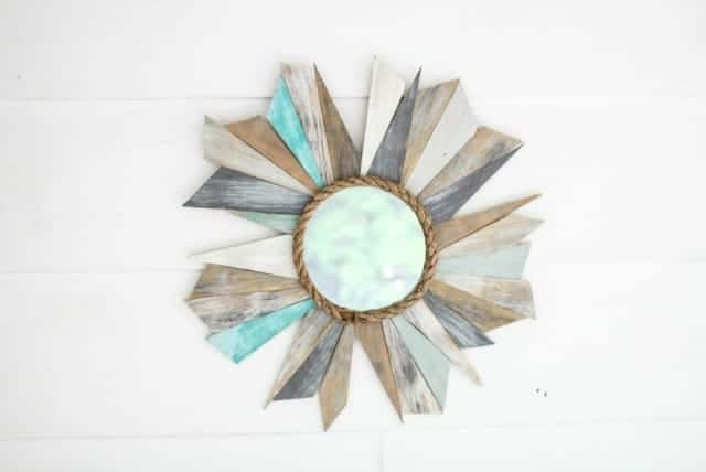 Scrap Wood Sunburst Mirror