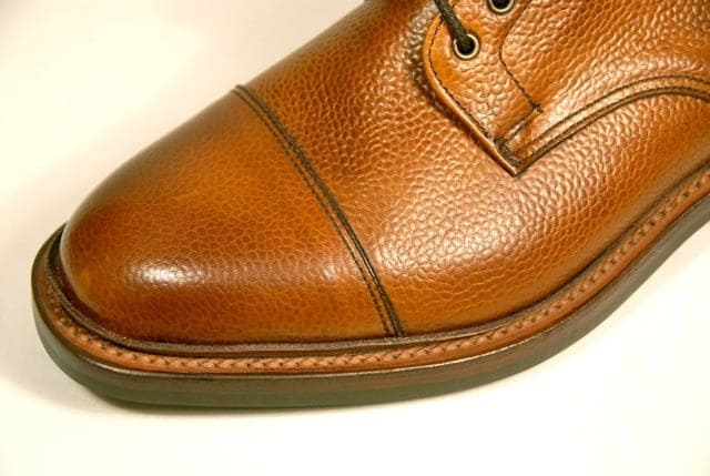 A Goodyear welted shoe with a storm welt. Picture: John Rushton Shoes