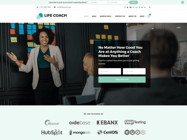 14 Best Free Coaching WordPress Themes for Life Coaches (2021)