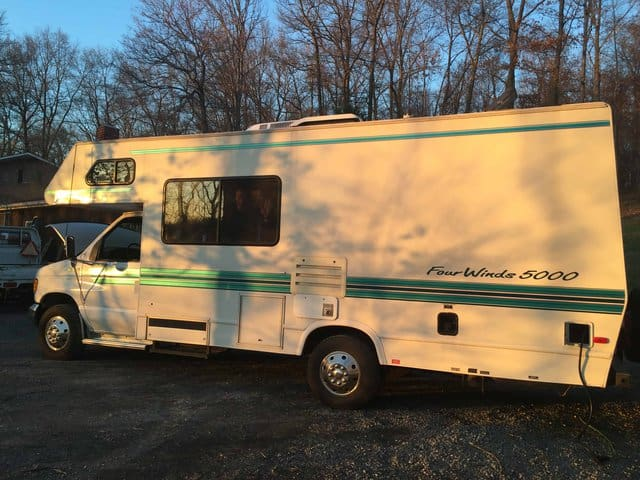 1997 ford fourwinds rv axl roads, finding RV