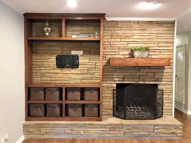 New House Fireplace Wood