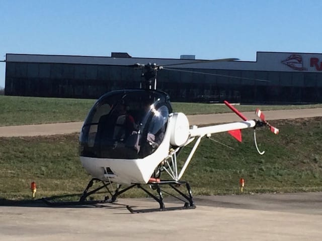 Schweizer 269C1 - 300CB training helicopter landed in Nicholasville Kentucky