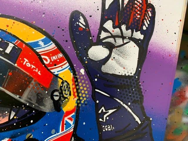 Mark Webber - Graffiti painting