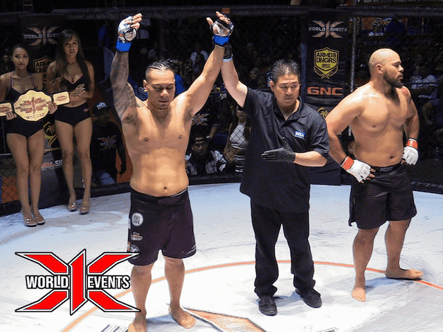 Al Matavao from Alaska defeats Marcus Gamble from Oahu