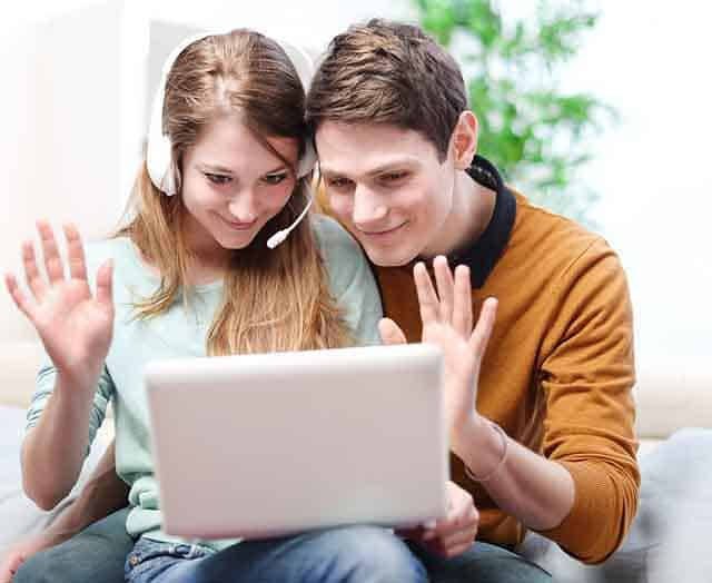 expats video chatting with skype