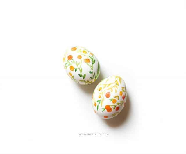 Diy Watercolor Easter Egg 14