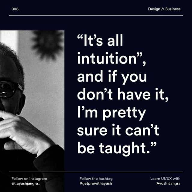 """It's all intuition"", and if you don't have it, I'm pretty sure it can't be taught."""