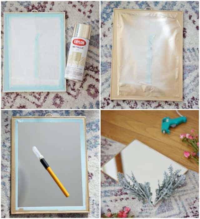 Collage Steps Diy Boho Mirror