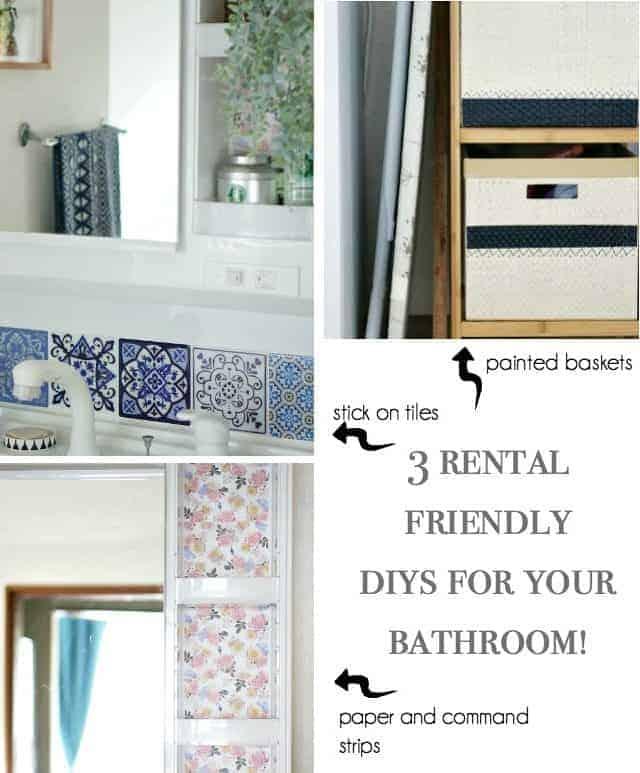 renter friendly diys for the bathroom