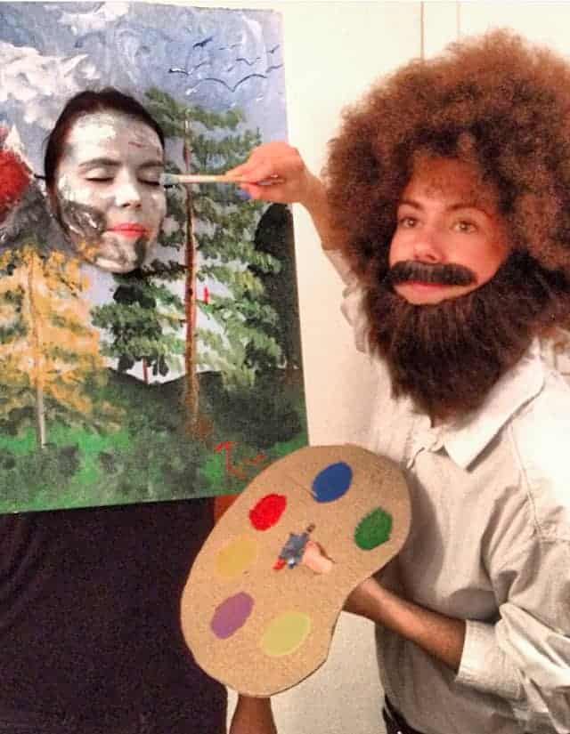 Bob Ross Painter - Cute Halloween Costumes! Over 25 of the Best DIY Halloween Ideas to inspire you on Trick or Treat night!