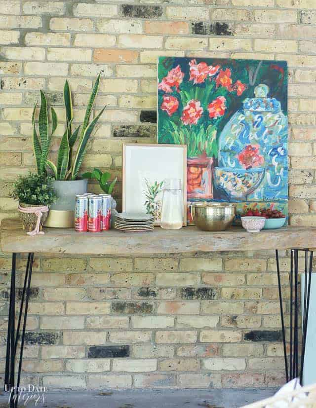 Bright Colorful Patio Table Setting 7