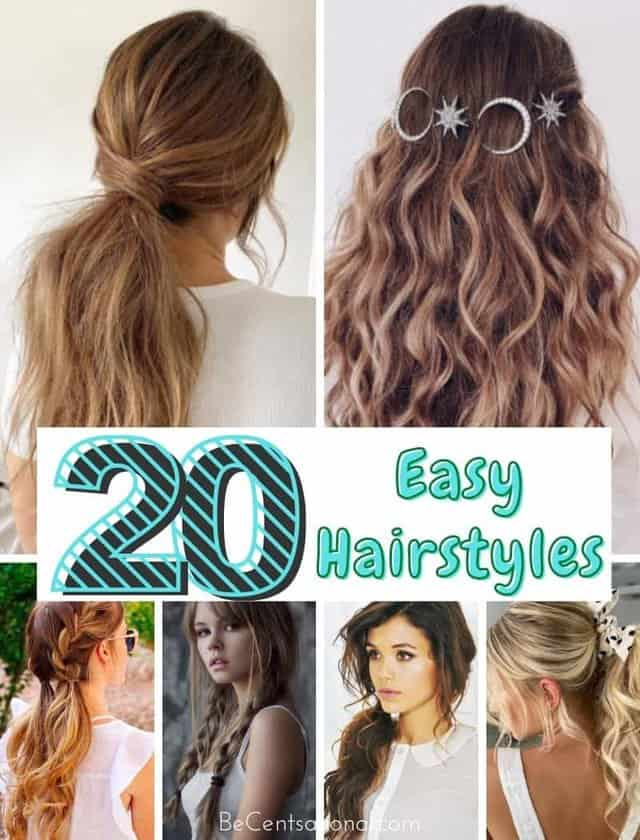 Quick and Easy Hairstyles for When You're Running Late. Cute hairstyles when your are in a rush.