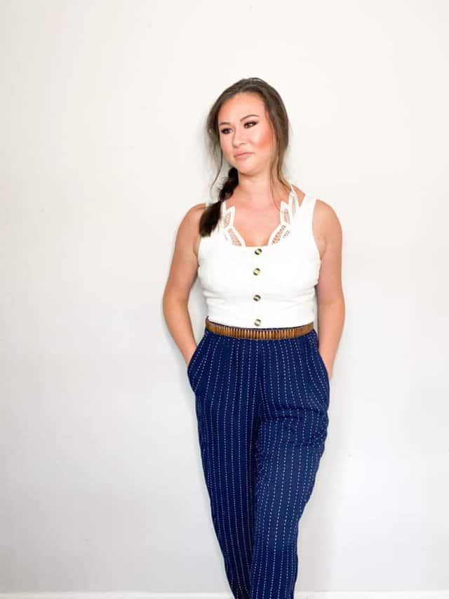 As we move closer and closer to fall it's time to start thinking about wardrobe transitions. These cotton trousers that I picked up in this end of summer thrift haul are perfect to transition into fall. Check out the other great pieces I picked up and how I plan to wear them into the fall!