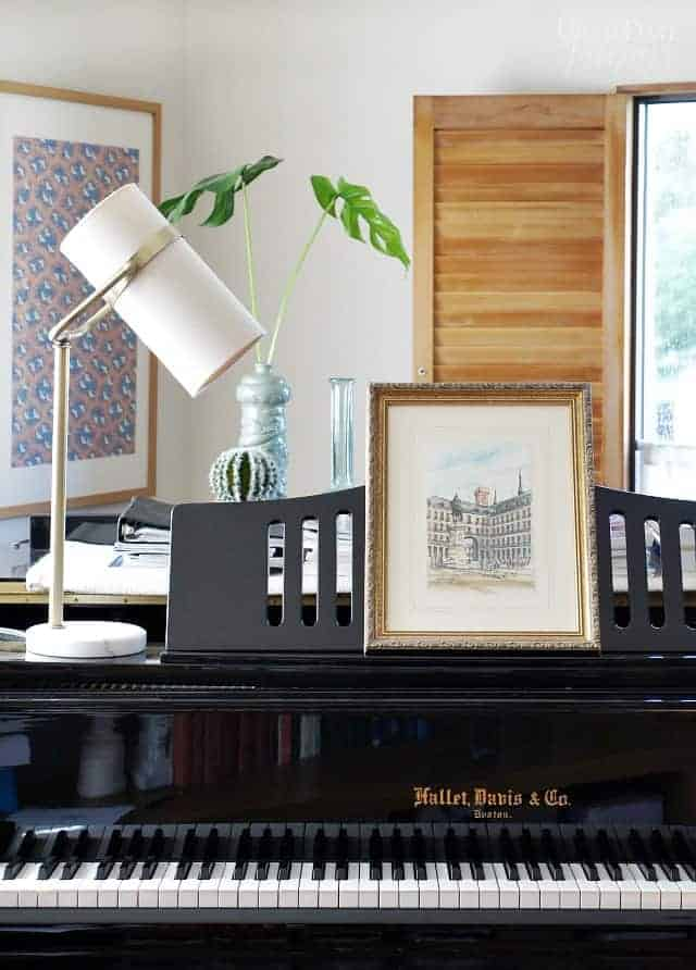 Piano Art Leaning On Music Rack