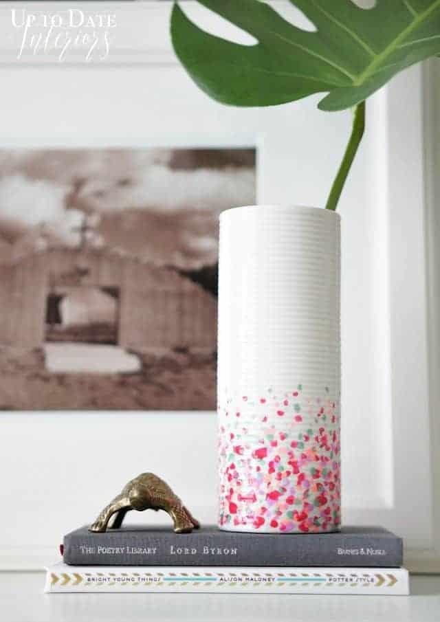 diy dollar store decor vase makeover