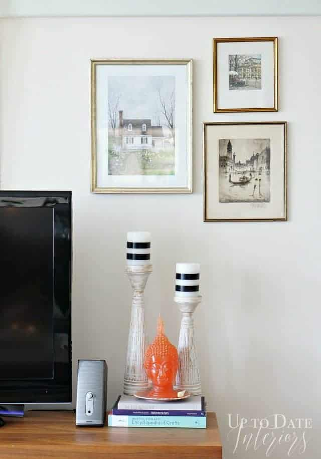 hang art with command strips for a renter friendly solution to decorating around the tv