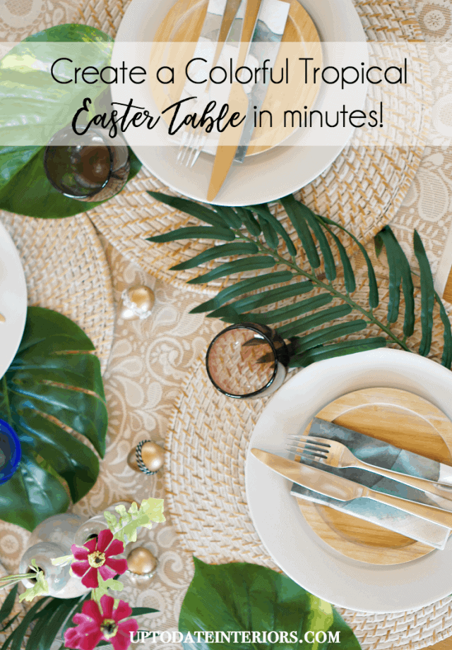 Colorful Tropical Tablescape for Easter