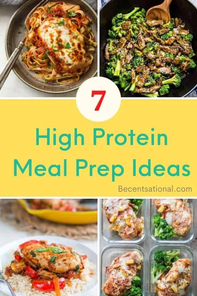 high protein meal prep ideas