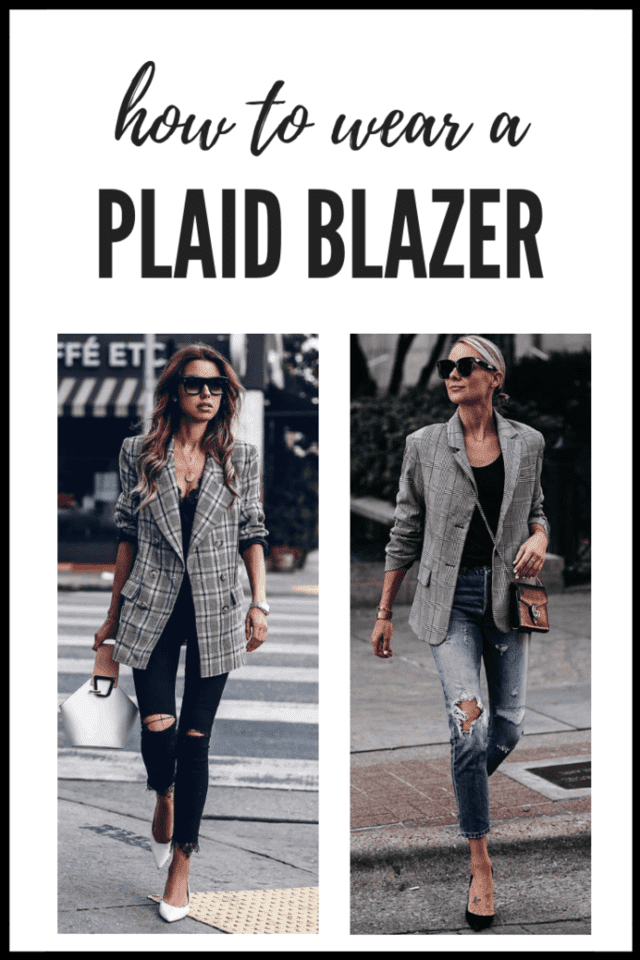 How to Wear A Plaid Blazer | Thrifted & Taylor'd