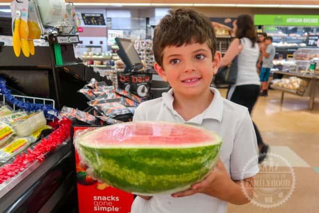 Jackson with Watermelon